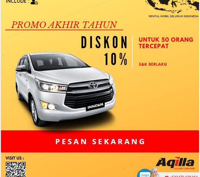 Promo Akhir Tahun Aqilla Rent a Car